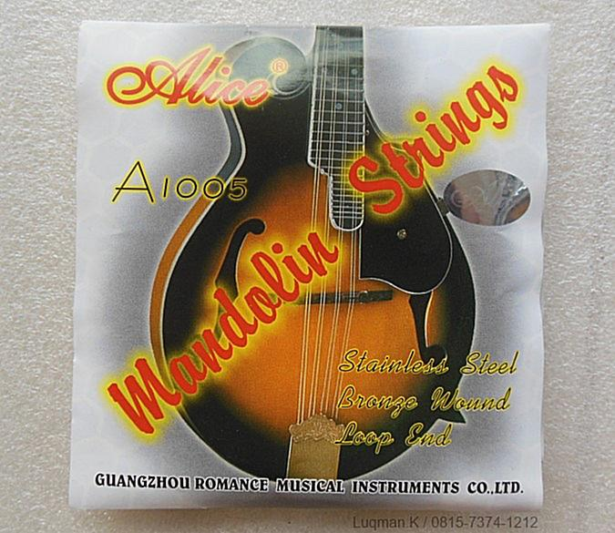 String Mandolin Alice A1005 diproduksi dengan teknologi terbaik dan material langsung dari Jepang, Prancis, jerman, dan USA. Karakter suara yang unik.