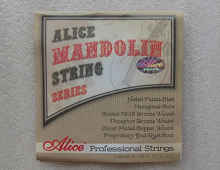 String Mandolin Alice AM08 diproduksi dengan teknologi dan material terbaik dari Jepang, Prancis, jerman, USA. Senar Alice memiliki karakter suara yang unik
