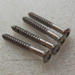 Screw Neck Half Drat Set Chrome 100% Barang Baru, dengan drat pada separuh badan screw, dapat digunakan untuk pemasangan berbagai partisi pada bagian neck.