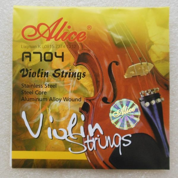 String Violin Alice A704 dengan kualitas terbaik yang terbuatdari Stainless Steel/Baja Inti/Aluminium Alloy. Sangat cocok untuk profesional maupun pemula.