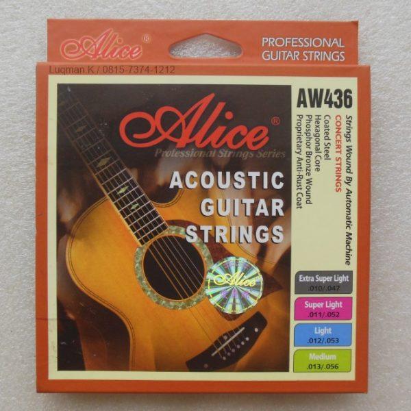 String Guitar Acoustic Alice AW436 terbuat dari material bahan impor dari Jepang, USA dan Jerman. Dengan teknologi yang telah sangat berkembang dari Jepang
