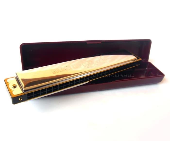 Harmonica Tremolo Golden Cup 24 Holes JH 024 100% Barang Baru, terbuat dari material berkualitas dan mampu menghasilkan nada dengan baik. Cocok untuk pemula