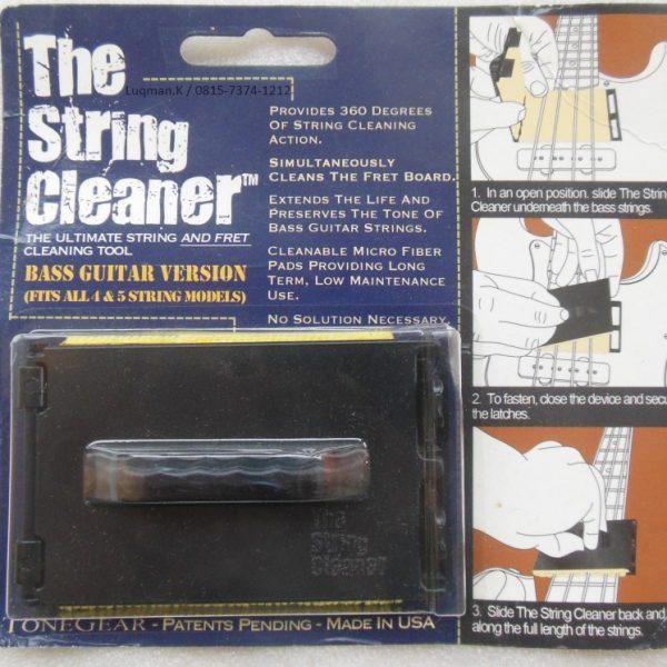String Cleaner Bass Tone Gear mampu mengikat kotoran dengan baik dan membersihkan senar dalam hitungan detik. Mudah diaplikasikan baik pada bass 4/5 senar.